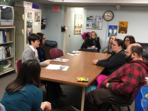 Secretary Miller visits home visiting program in Bloomsburg.