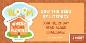 Sow the Seed of Literacy. Join the 21-day Read Aloud Challenge